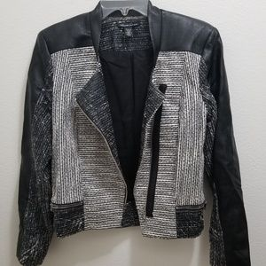 KENNETH COLE Black and White Jacket